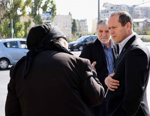 שר הרווחה ערך סיור בירושלים