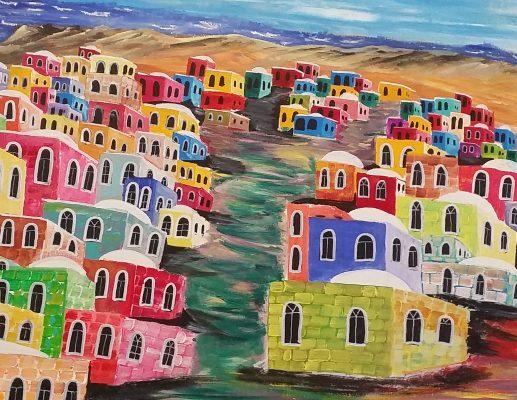 נוף וצבע, תערוכת יחיד של חזי סנדר