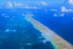 רצועה יבשתית בים הכחול